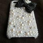 Bling Crystal black Bow Rib..