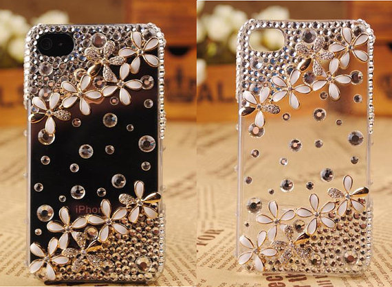 Cute Floower Cover Cell Phone CaseFor Iphone 4 Or Iphone 4s